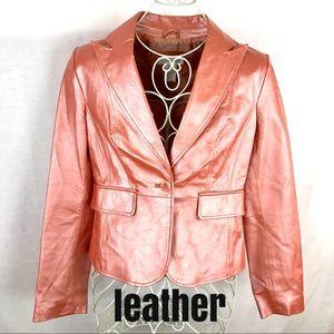 WORTHINGTON Soft Leather Shimmer Coat Women Small
